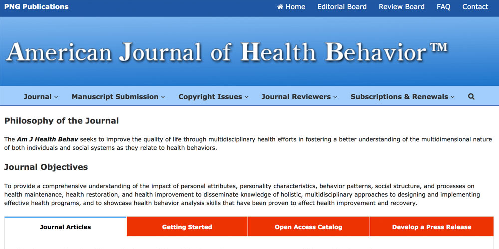 American Journal of Health Behavior