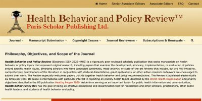 Health Behavior and Policy Review