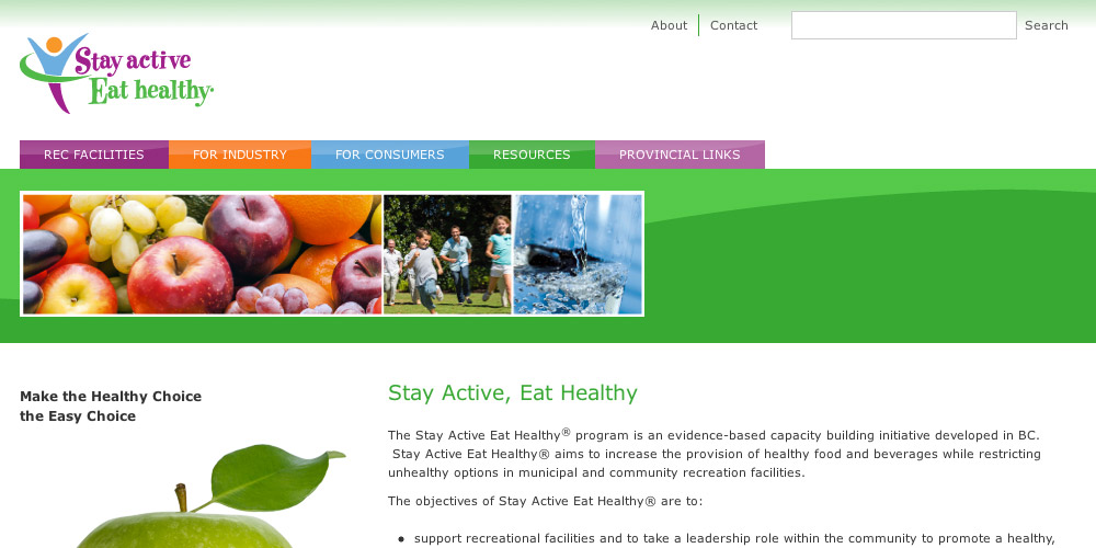 Stay Active Eat Healthy