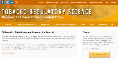 Tobacco Regulatory Science