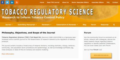 Tobacco Regulatory Science